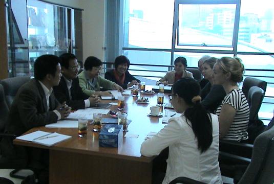 Làm việc với đoàn chuyên gia Liên minh các thành phố - Cities Alliance