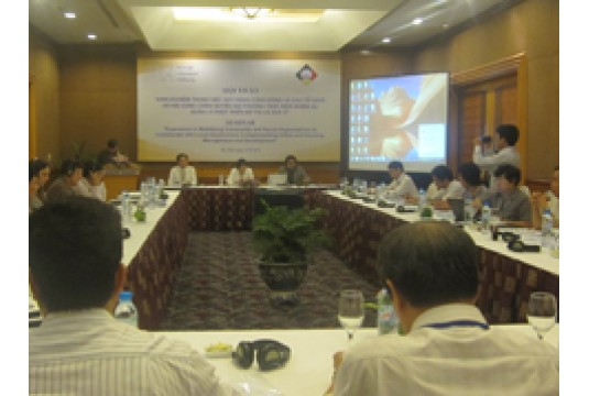 """Hội thảo""""Kinh nghiệm trong việc huy động cộng đồng và các tổ chức xã hội cùng Chính quyền địa phương thực hiện nhiệm vụ quản lý, phát triển đô thị và nhà ở"""""""