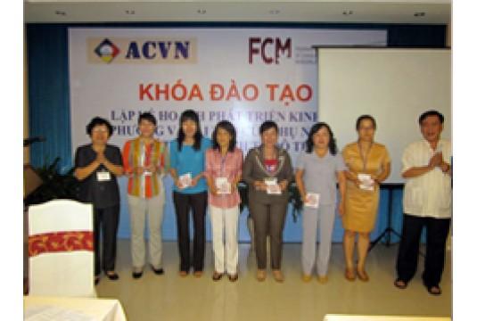 """Khoá đào tạo """"Lập KH Chiến lược Phát triển Kinh tế địa phương và Vai trò của phụ nữ trong phát triển kinh tế đô thị"""" Tại TP Vũng Tàu"""