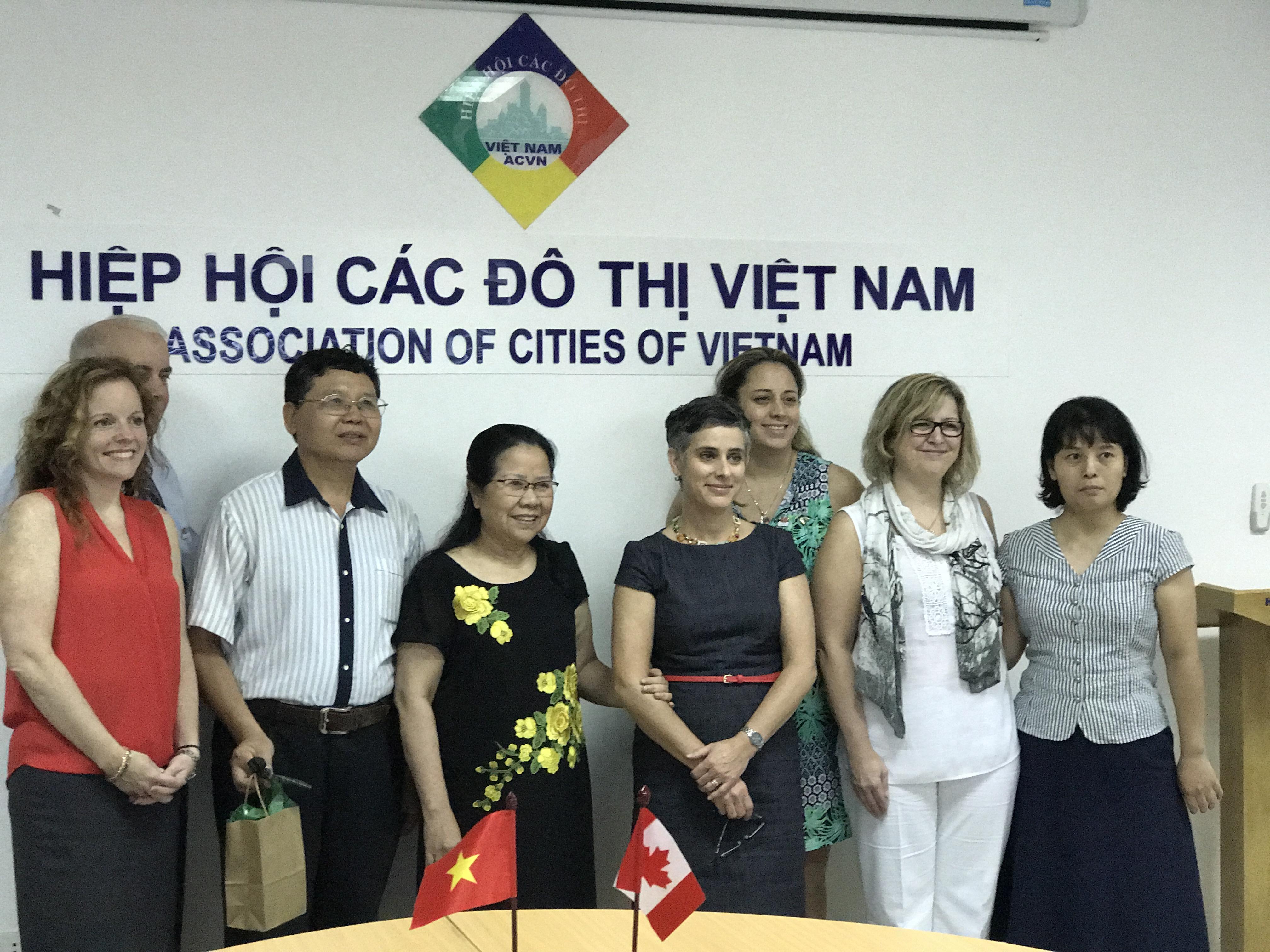 Hoạt động hỗ trợ nâng cao năng lực cho Hiệp hội các đô thị Việt Nam