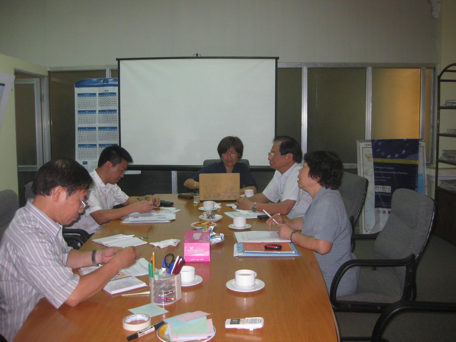 Họp Ban Quản lý Quỹ PTCĐ Quốc gia, chương trình ACCA và Dự án Cities Alliance