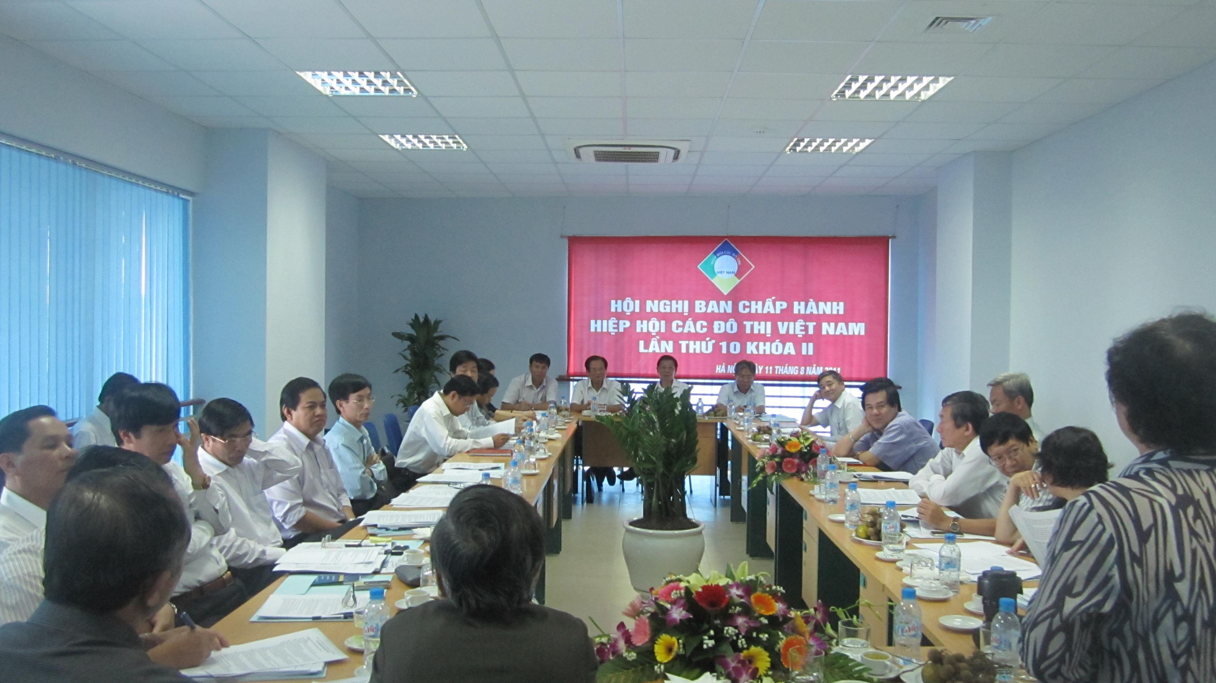 Hội nghị Ban Chấp hành Hiệp hội các đô thị Việt Nam lần thứ 10 khóa II